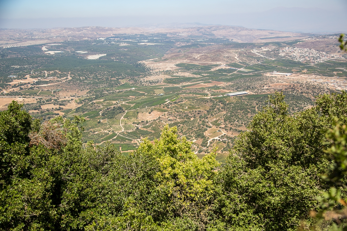 The view to Nothern Israel