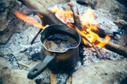 Boiling coffee