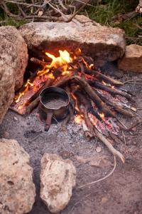 Készül a meleg leves